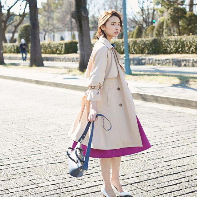 【Trench coat】レディース  トレンチ コート