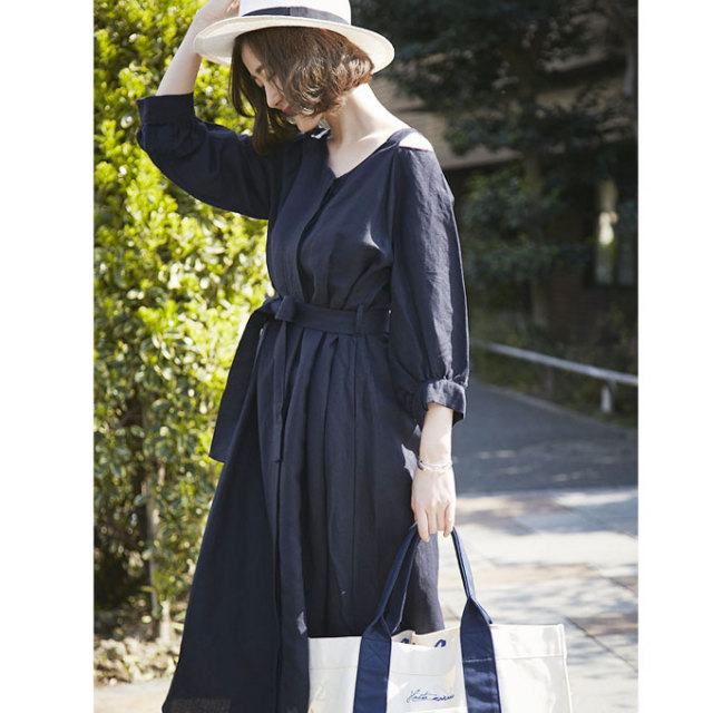 【Open shoulder long one piece】レディース  ワンピース