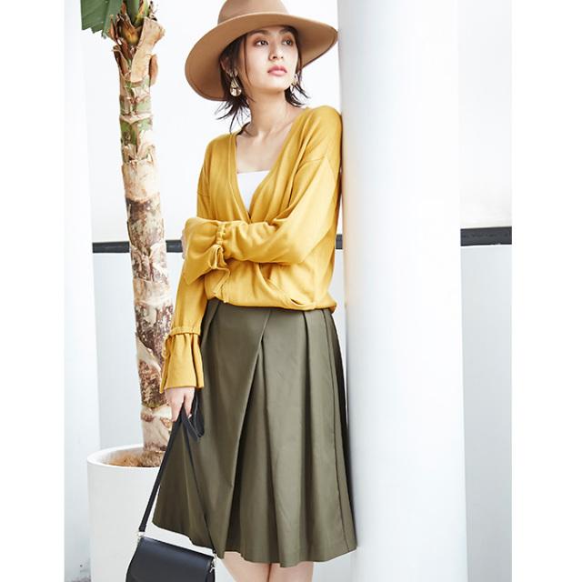 【Design tuck color skirt】レディース  タック スカート *bargain品につき 返品/交換/注文確定後の変更キャンセル 不可*