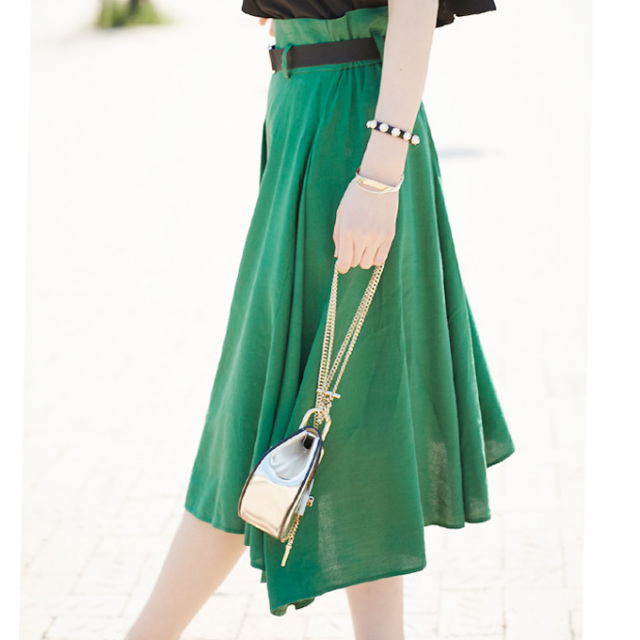 【Belt asymmetry skirt】レディース  アシンメトリー スカート