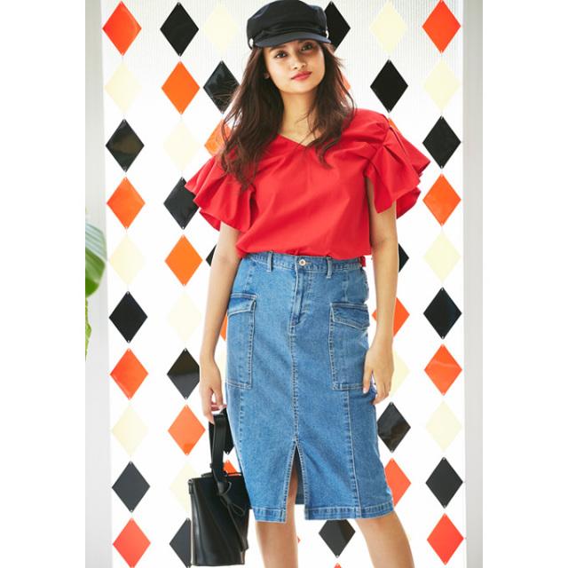 【Denim tight skirt】デニム タイトスカート