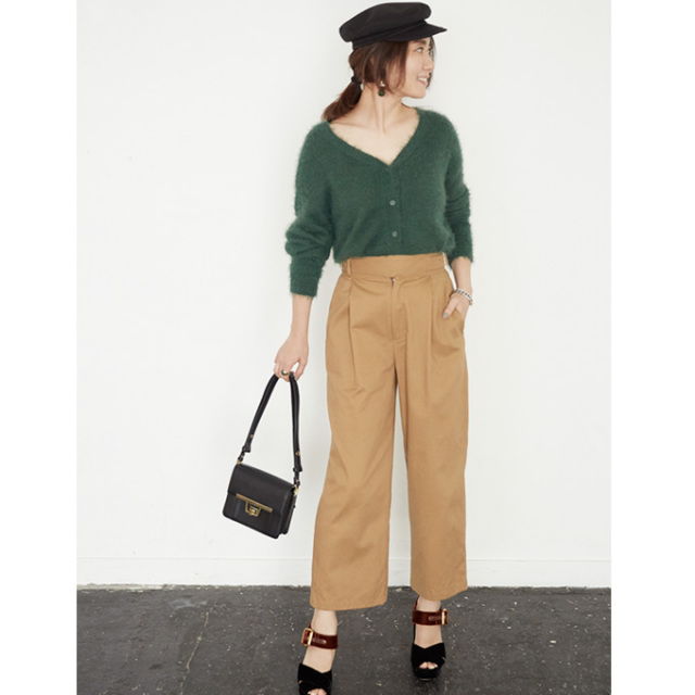 【Waist belt design pants】東原妙子さん着用  ベルト パンツ
