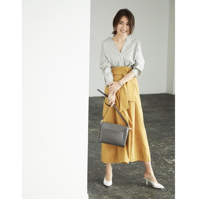 【Peach skin wide pants】東原妙子さん着用  ピーチスキン ワイド パンツ