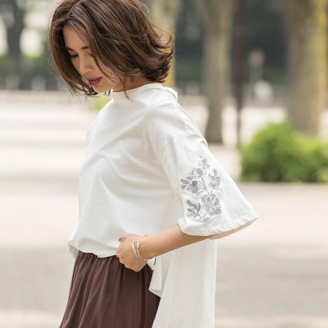 9月6日午前0:00再販【Embroidery design pullover】レディース  刺繍 プルオーバー