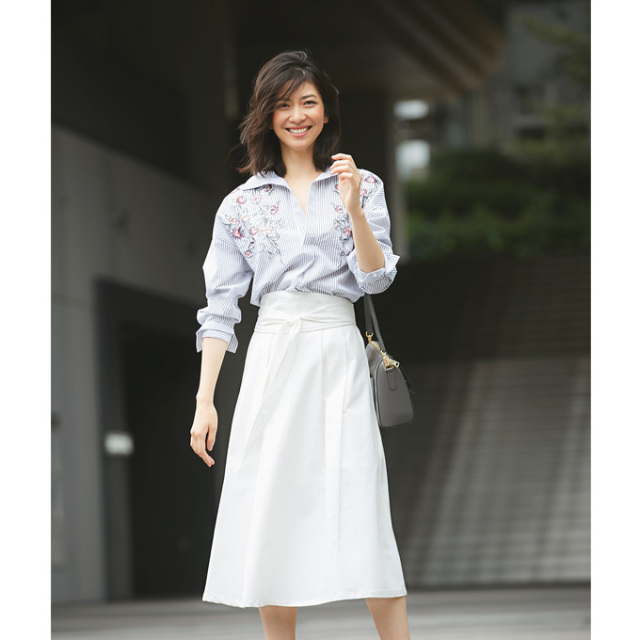 【Sash belt belt tuck skirt】レディース  サッシュベルト スカート*SALE品につき返品/交換/注文確定後の変更キャンセル不可*