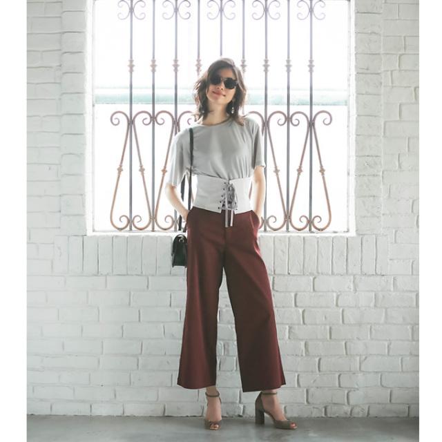 【Straight chino wide pants】レディース  チノ ワイド パンツ*SALE品につき返品/交換/注文確定後の変更キャンセル不可*