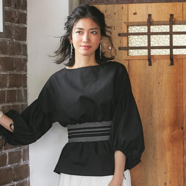 《JJ10月号掲載》【Stitch design blouse】レディース  刺繍 ブラウス