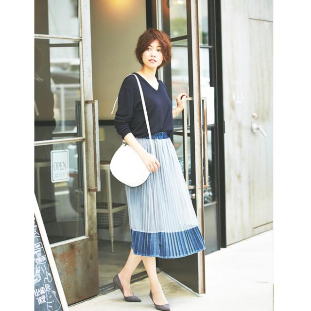 【Velor tulle  pleats skirt】ベロア チュール プリーツ スカート