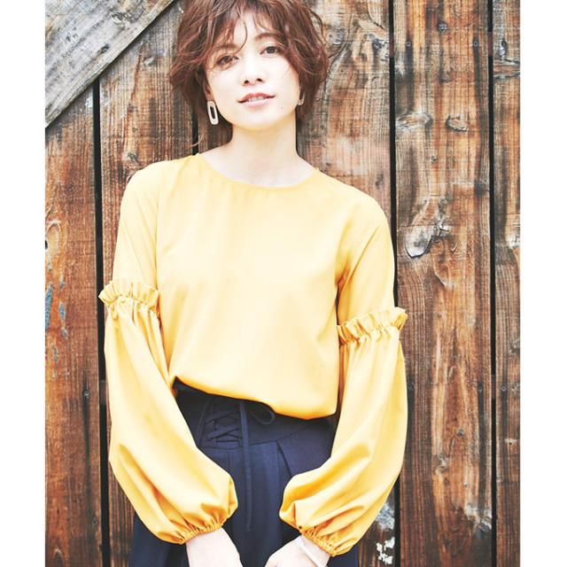 【Volume sleeve blouse】ボリューム袖 ブラウス