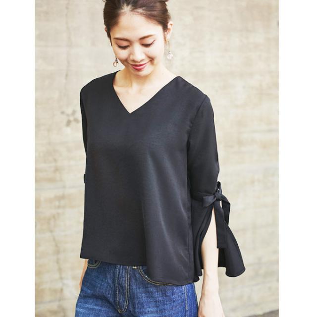 【Slit bell sleeve blouse】スリット ベルスリーブ ブラウス