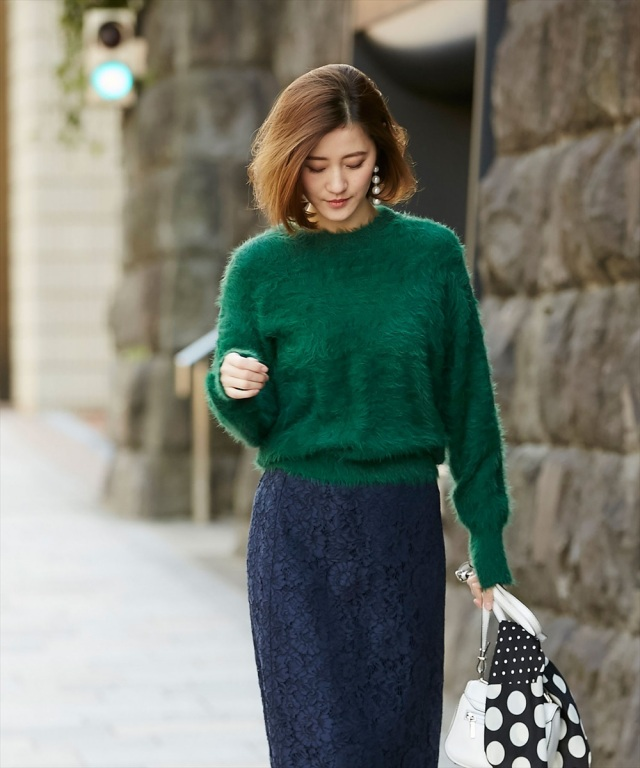 【Shaggy knit pull over】シャギー ニット プルオーバー
