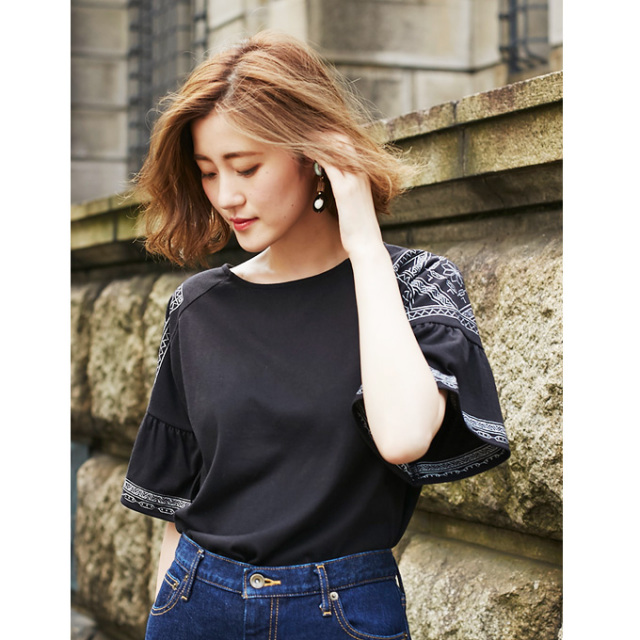 【Embroidery flare tops】刺繍 フレア トップス