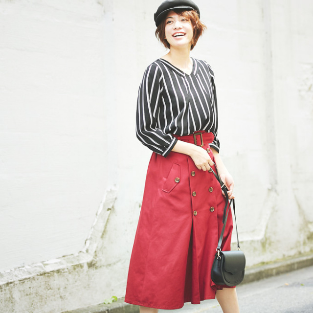 【Trench skirt】トレンチ スカート