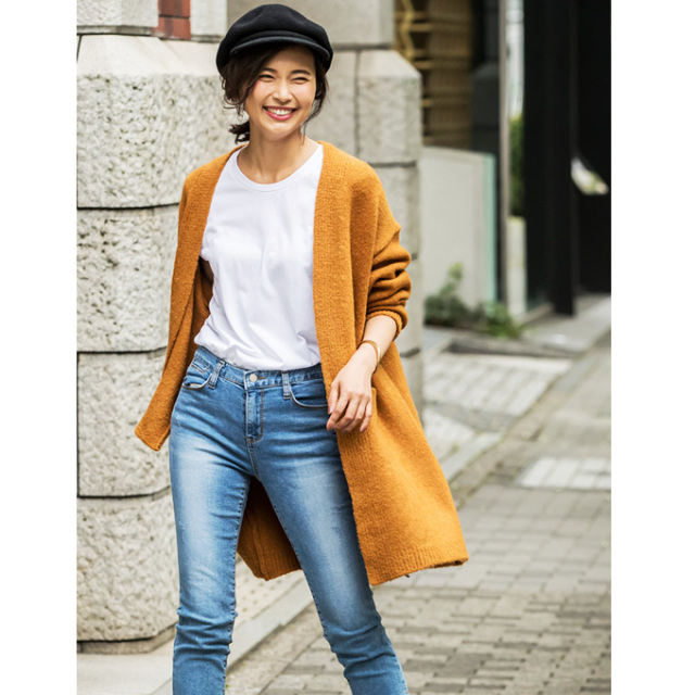【Over size knit gown】オーバーサイズ ニット ガウン