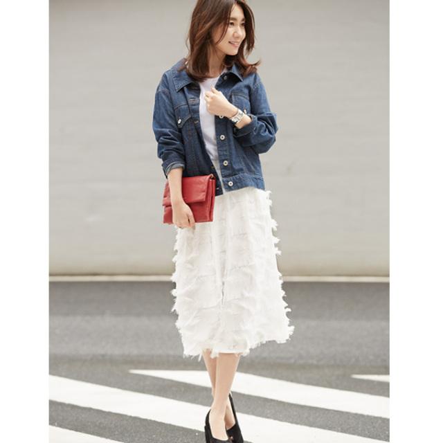 【Jacquard skirt】東原妙子さん着用   ジャガード スカート