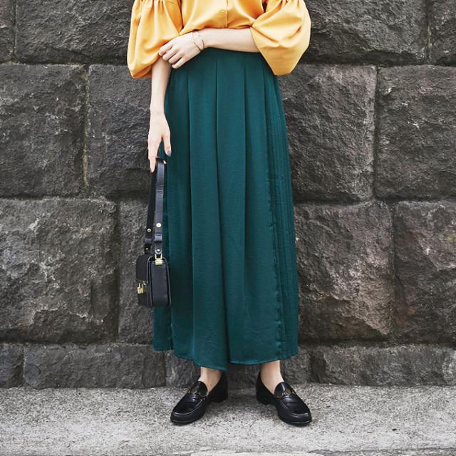 ≪ WEB限定販売商品 ≫【Side pleats wide pants】サイド プリーツ ワイド パンツ