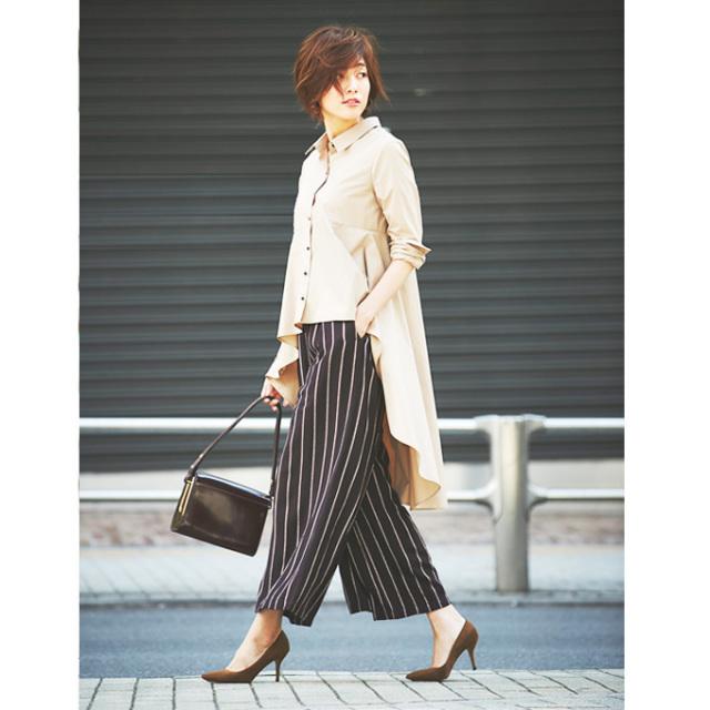 【Stripe wide pants】ストライプ ワイド パンツ