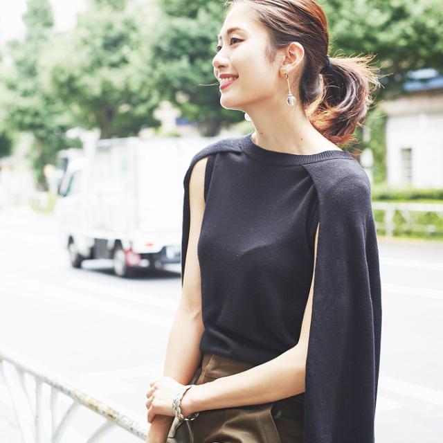 【Mant style knit】マント風 ニット