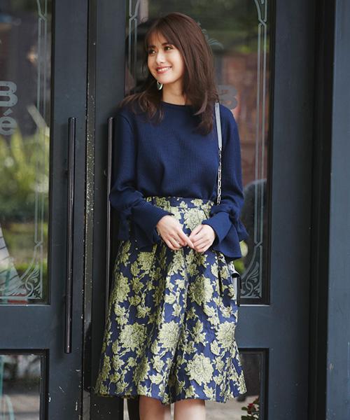 花柄ボリュームスカート