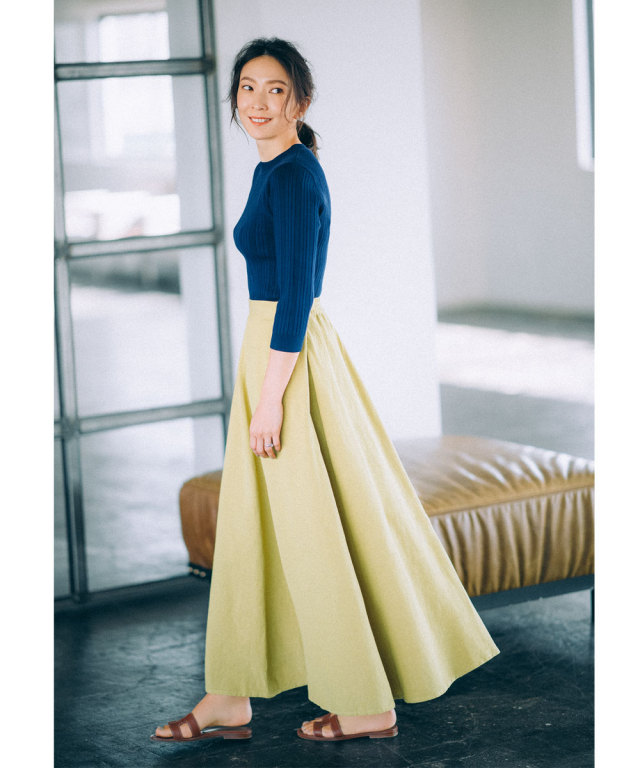 《高橋志津奈さん着用》リネンマキシスカート