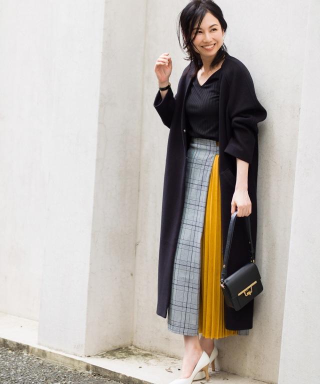 《Noriko & Michiko Collaboration Collection》ウール混オーバーサイズノーカラーコート