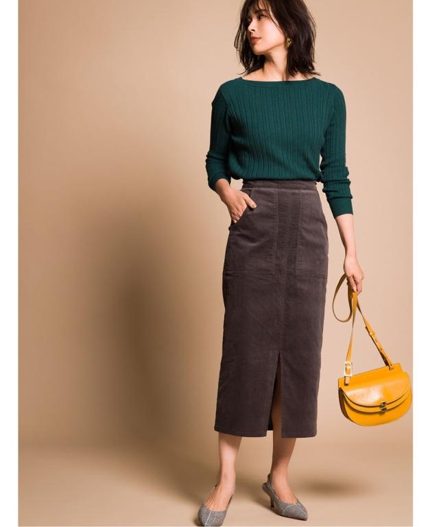 《yokoさんコラボ》コーデュロイタイトスカート