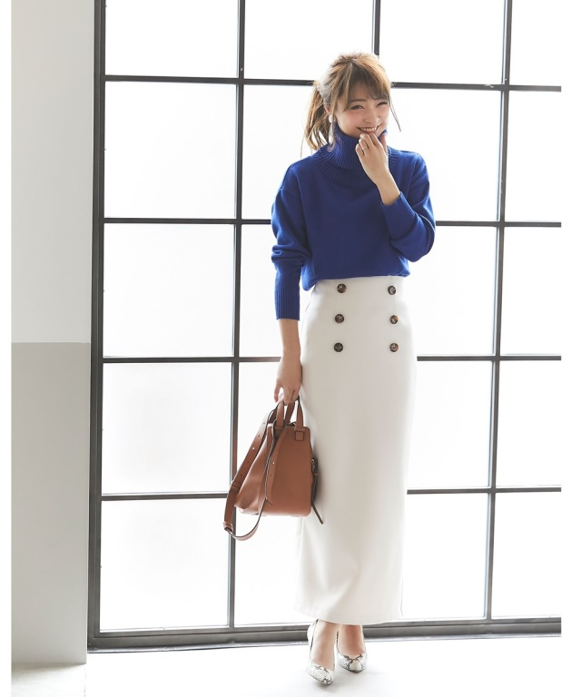 《@n.airi_taitoさん着用》サスペンダー付きタイトロングスカート