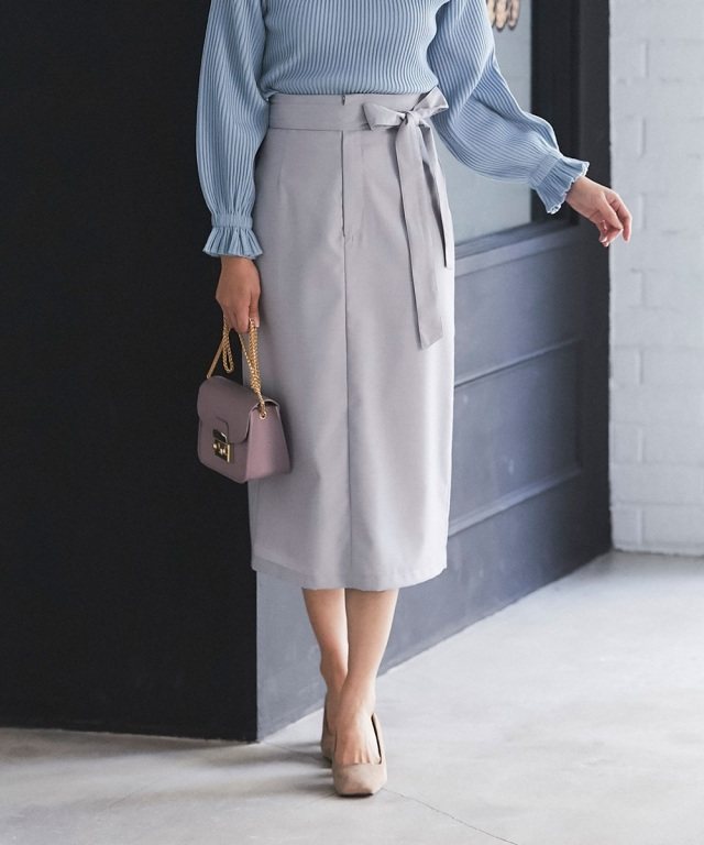 スリットタイトスカート*SALE品につき返品/交換/注文確定後の変更キャンセル不可*