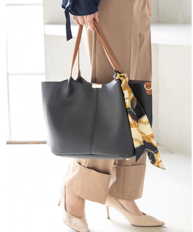 スカーフ付きスタイリートートバッグ*SALE品につき返品/交換/注文確定後の変更キャンセル不可*