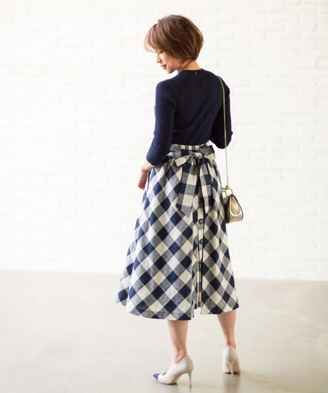 7月20日午前0:00再販!【Sサイズ企画】《@yu.rm さん着用》《@ma_anmiさんさん着用》ギンガムチェックセミフレアースカート