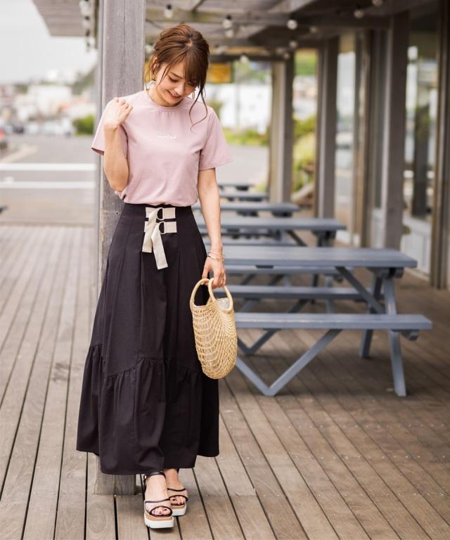 ≪再値下げ≫《@n.airi_taitoさん着用》2本ベルト立体ティアードスカート*SALE品につき返品/交換/注文確定後の変更キャンセル不可*