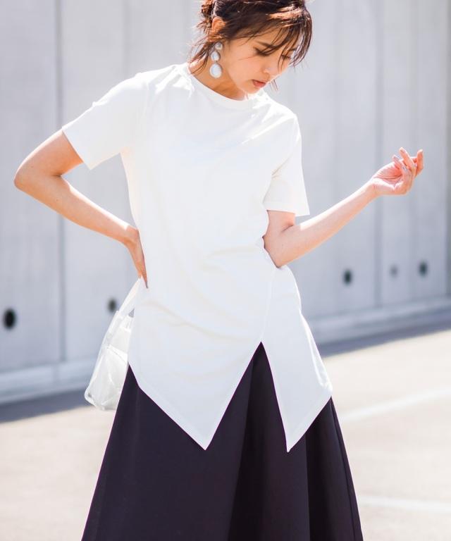 【@kazumint20コラボ】スリットアシンメトリーTシャツ