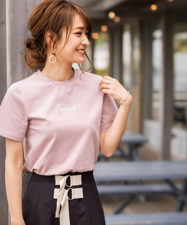 《@n.airi_taitoさん着用》刺繍ロゴTシャツ
