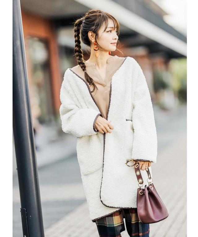 《@n.airi_taitoさん着用》リバーシブルボアコート