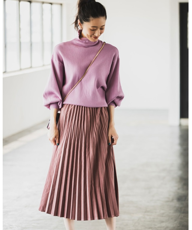 【@mmmcoco07さん着用】フェイクスエードプリーツスカート