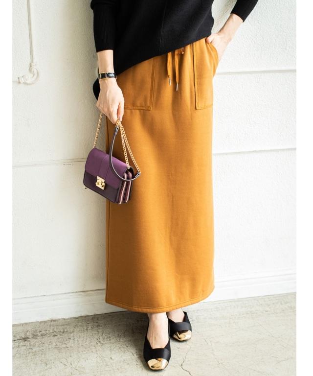 《Noriko & Michiko Collaboration Collection》裏起毛スウェットスカート