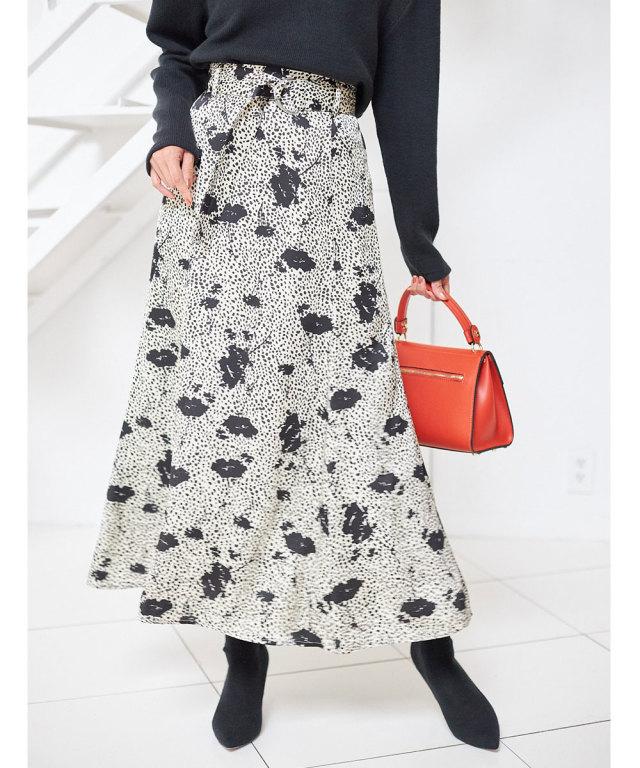 ミニダルメシアンフラワーナロースカート
