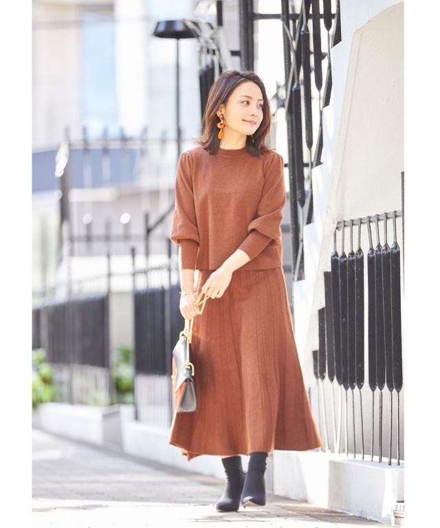 《Small size collection × ひるいちか》ニットプリーツ風スカート《 店舗販売は12月7日からになります 》