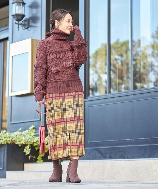 《Small size collection × ひるいちか》タータンチェックタイトスカート*SALE品につき返品/交換/注文確定後の変更キャンセル不可*