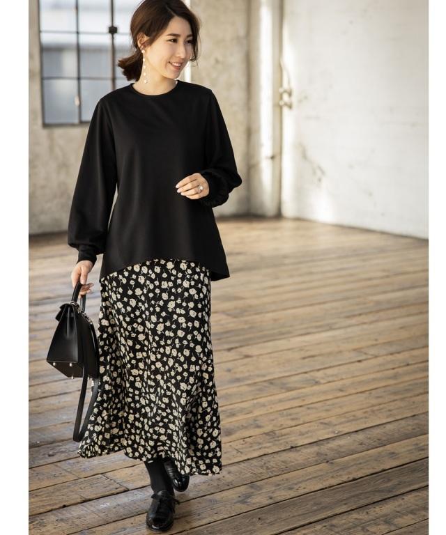 2月4日午前0:00公式WEB限定再販!《高田麻紀子さん着用》エレガントフラワーマーメイドナロースカート