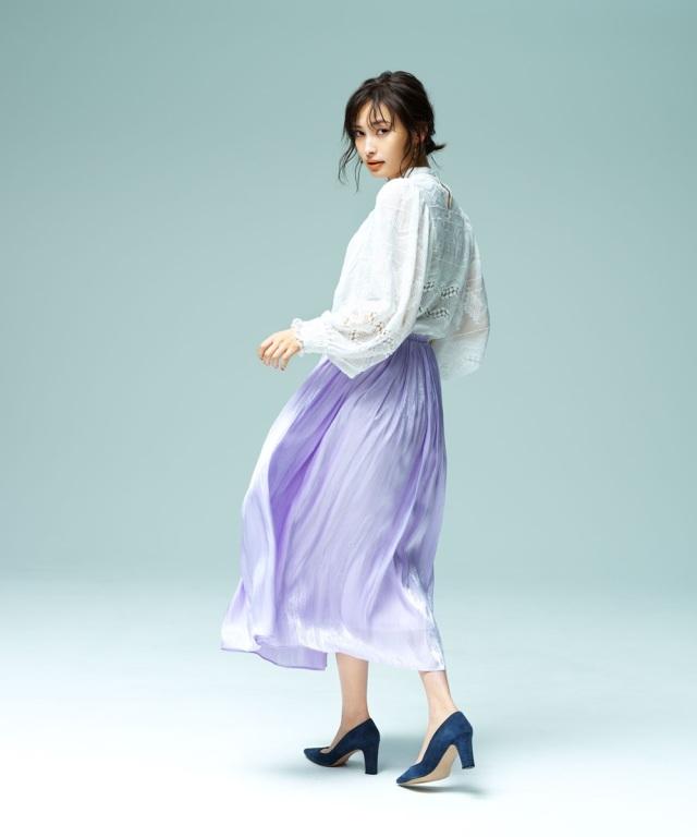 《大政絢さん着用》シャイニーギャザースカート