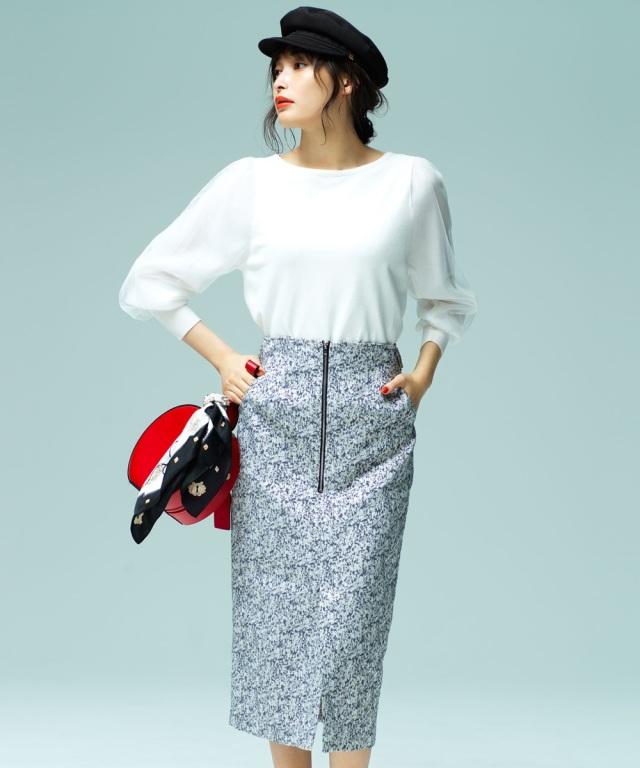 《大政絢さん着用》ラメジャガードタイトスカート