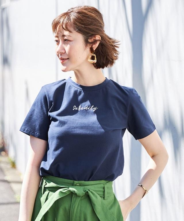 刺繍ロゴTシャツ*SALE品につき返品/交換/注文確定後の変更キャンセル不可*