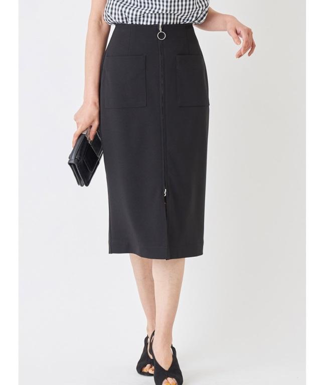 ジップ付きタイトスカート