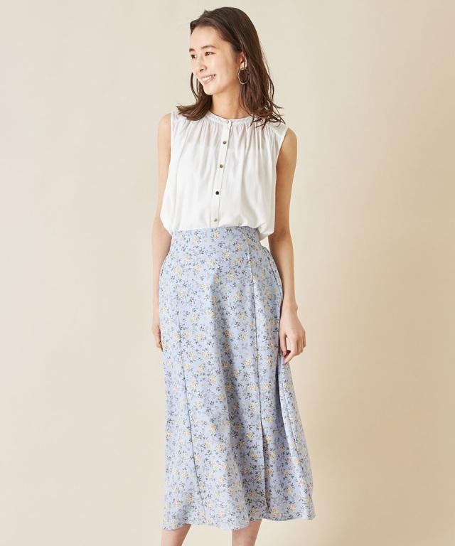 小花柄Aラインスカート