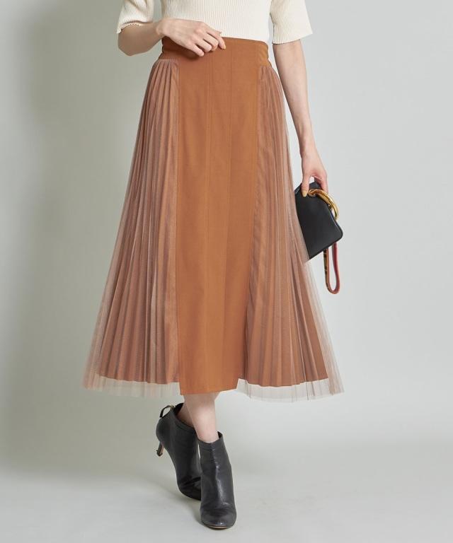 サイドチュールプリーツスカート