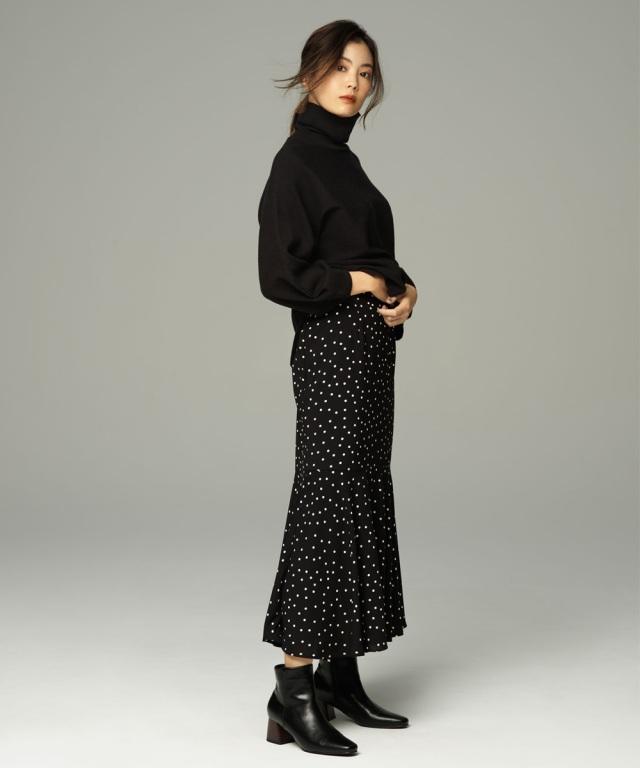 9月25日午前0:00再販!【矢野未希子さん着用】ドットマーメイドスカート