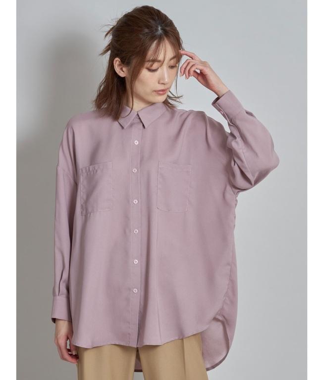 バックサテンビッグシャツ
