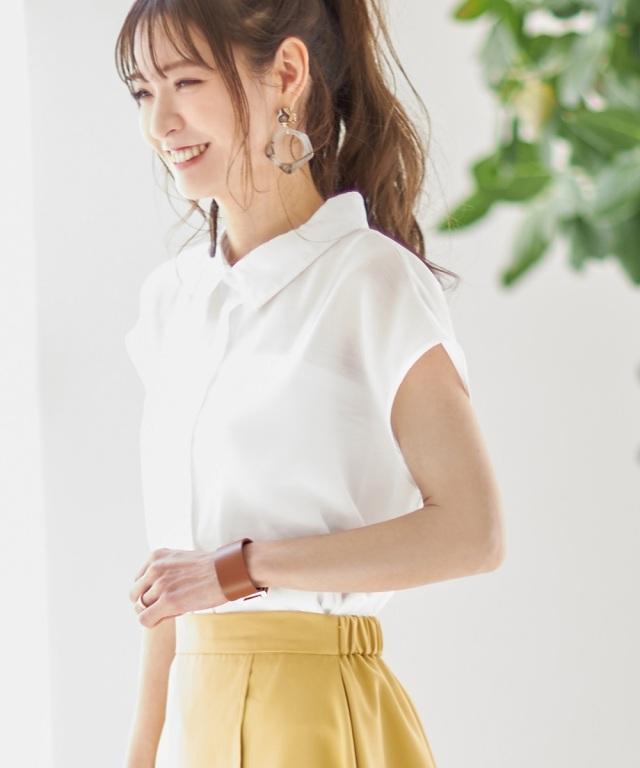 【成瀬愛里さん着用】《early summer》シアーフレンチスリーブシャツ