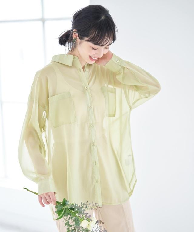 4月4日午前0:00再販!《early summer》《Suger Color Collection》シャイニーシアーシャツ
